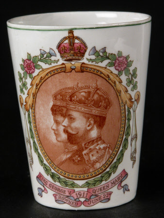 Beaker commemorating the coronation on 22 June 1911 of King George V (1865-1936) and Queen Mary ...