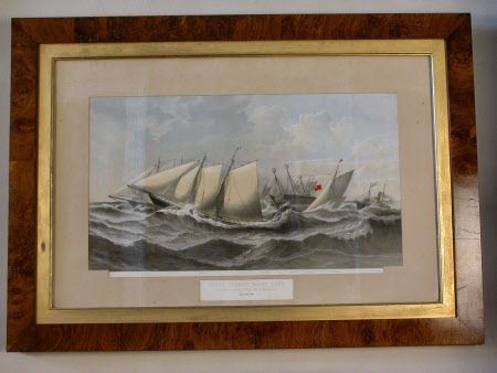 Royal Thames Yacht Club Race 1874. 'From Nore to Dover' Chichester (after C. R. Rickett)