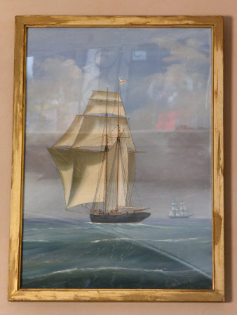 The Chichester's Yacht 'Erminia' in full sail