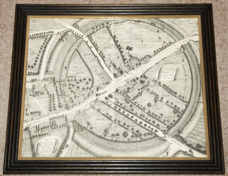 The Ground plot of the British Temple, Now the Town of Avebury, Wilts, AO 1724