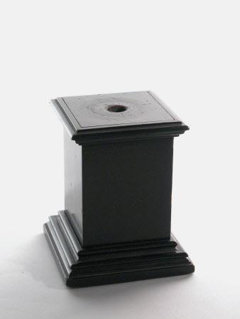 Ebonized wood plinth