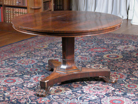 Tilt-top pedestal table