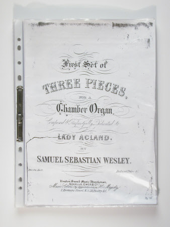 First set of Three Pieces for a Chamber Organ