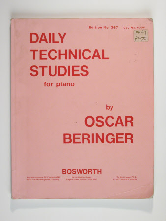 Oscar beringer daily technical studies for piano