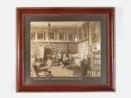 The Library, Killerton House, Devon, 1897