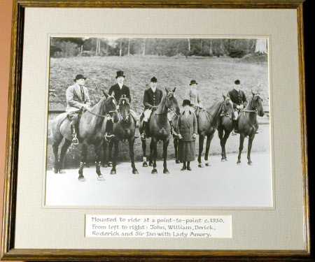Left to right: Sir John Heathcoat-Amory, 3rd Bt (1894-1972), Sir William Heathcoat-Amory, 5th Bt, ...