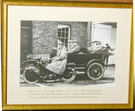 Driving to Scotland 1920: Mr Home Smith, Director of John Heathcoat & Co, Sir John Heathcoat-Amory, ...