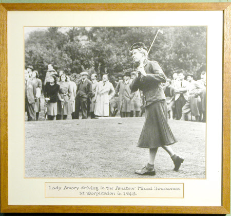 Joyce Newton Wethered, Lady Heathcoat Amory (1901 - 1997)  driving in the Amateur Mixed Foursomes ...
