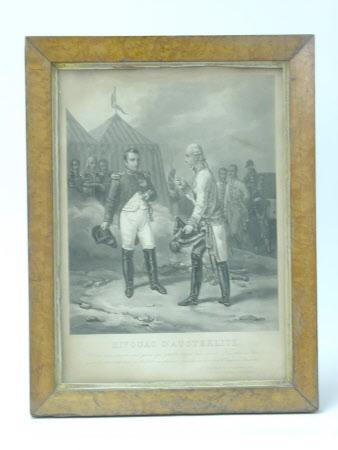Bivouac d'Austerlitz: Emperor Napoleon I, Emperor of France (1769–1821) and Emperor Francis II, ...
