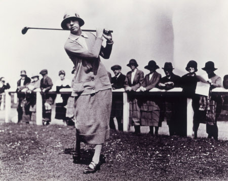 Joyce Newton Wethered, Lady Heathcoat Amory (1901 - 1997) at Troon in 1925