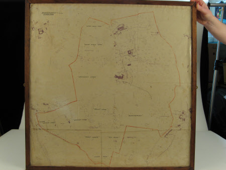 Plan/map of land owned by the National Trust at Knightshayes Court, Devon