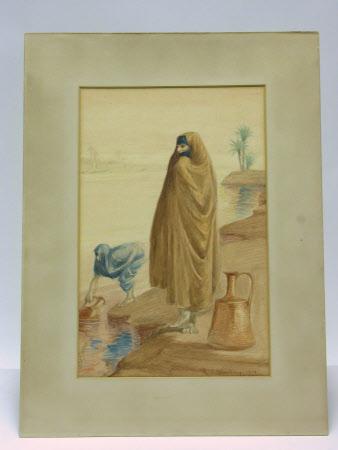 Two Arab Women drawing Water