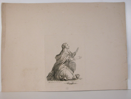 Woman kneeling (after Annibale Carracci)