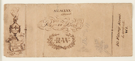 Decorated cover of Rex Whistler's Midland Bank Paying-in Book