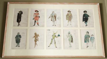 Ten costume designs for 'The Tempest', by William Shakespeare: (a) Antonio, (b) Ferdinand, (c) King ...