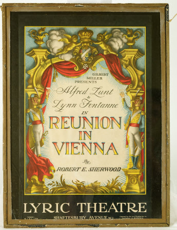 Poster for 'Reunion in Vienna' by Robert E. Sherwood