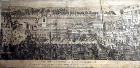 The Coronation Procession of King Edward VI from the Tower of London to Westminster on February ...