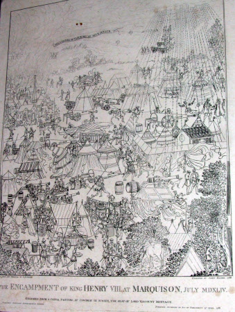The Encampment of King Henry VIII at Marquison, July 1549 (after Samuel Hieronymus Grimm)