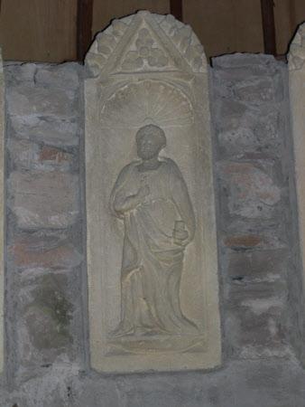 St Peter set into a niche