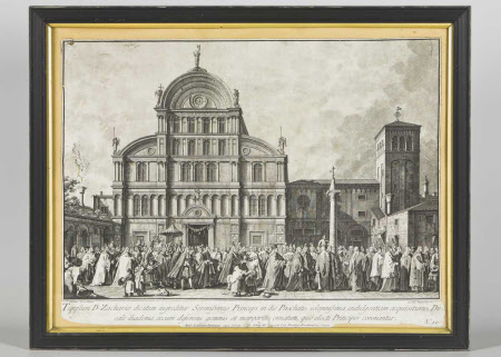 The Doge leaving the Church of San Zaccaria on Easter Day (after Canaletto)