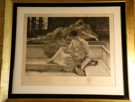 'The Favourite Poet' (after Sir Lawrence Alma-Tadema RA)