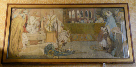 The Baptism of Edwin, King of Northumbria, Deira and Bernicia (c.586 - 632/33), AD 627