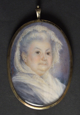 Miniature of Helen Anderson, Mrs William McEwan (d.1906)