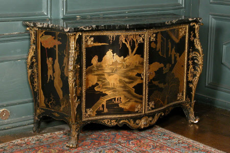 'The Powis Castle lacquer Commodes'