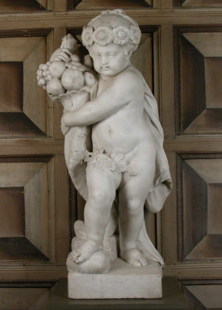 Female Putto with Cornucopia: One of the four Elements - Earth