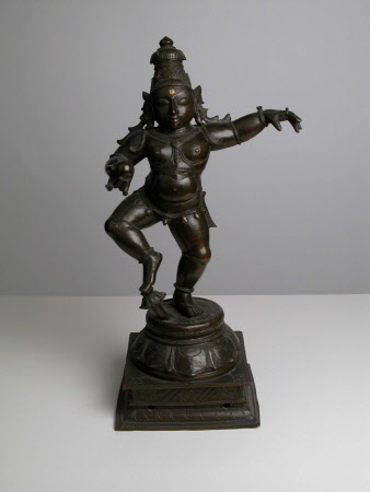 The Hindu God the Child Krishna, shown as Navanitanrittamurti