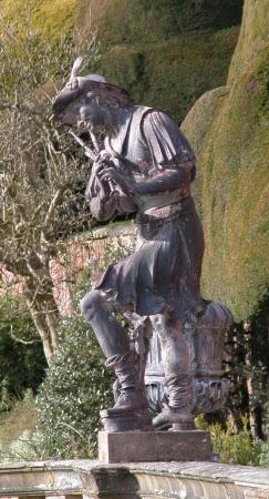 An Arcadian Shepherd playing Bagpipes