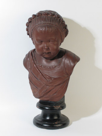 Bust of a Baby Girl wearing a Cap
