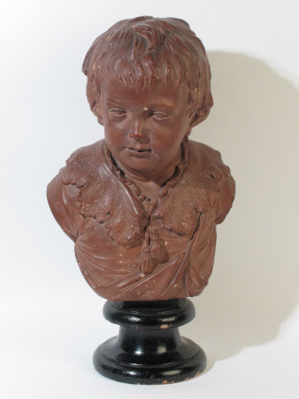 Bust of a Boy wearing a Lacy Collar