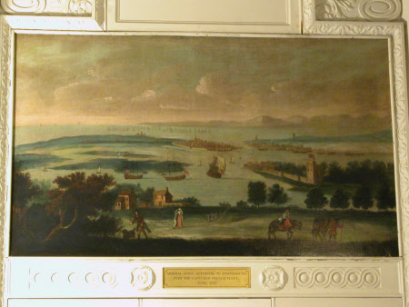 View of Portsmouth Harbour with Admiral Anson returning with the Captured French Fleet, 1747