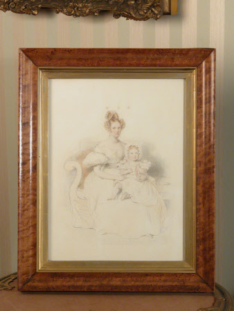 Lady Anne Amelia Keppel, Countess of Leicester (1803-1844) and her Daughter Lady Margaret Sophia ...