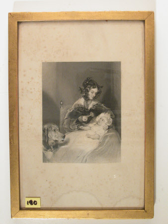 Lady Louisa Jane Russell, Duchess of Abercorn (1812-1905) with her Daughter, Lady Harriet Georgiana ...