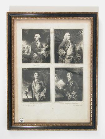 Admiral Samuel Hood, 1st Viscount Hood (1724-1816); Admiral Sir George Anson, Baron Anson of ...