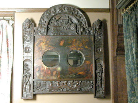 The Theodore Watts-Dunton Pair of Oak Wall Mirrors
