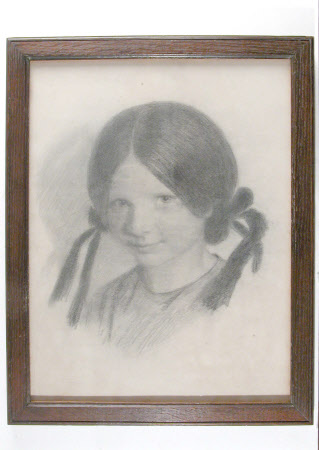 Lucy Madox Brown, later Mrs William Michael Rossetti (b.1843) as a Child