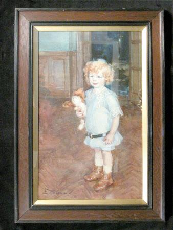 Mervyn Caverall Mander (1901 - 1978), aged 3