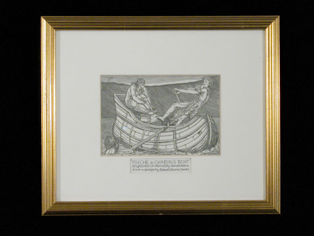 Psyche in Charon's boat (after Sir Edward Coley Burne-Jones)