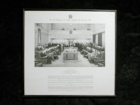 Last Sitting of the Federal Assembly,1963