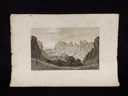 Vue de l'interieur du Cratere du Pic de Teneriffe (after Wilhelm-Friedrich Gmelin)
