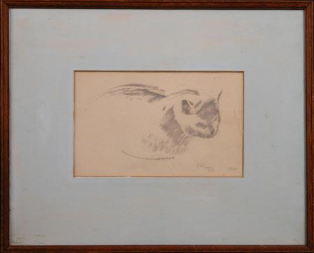 Leonard Sidney Woolf's cat called 'Peat'