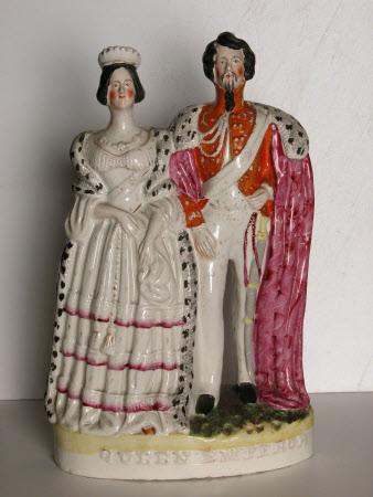 Queen Victoria (1819-1901) and Emperor Napoleon III, Emperor of France (1808-1873)