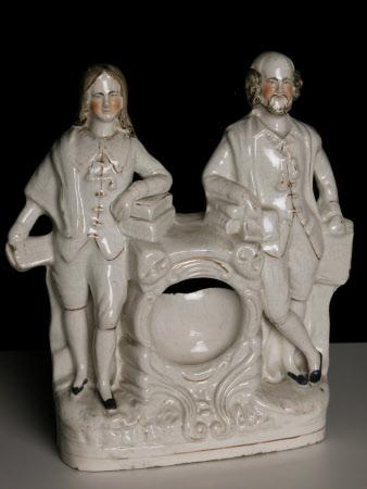 Clock with John Milton (1608-1674) and William Shakespeare (1564-1616)