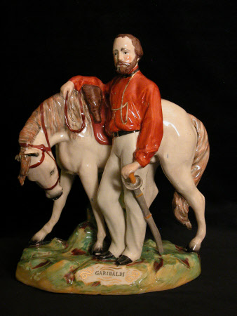 Giuseppe Garibaldi (1807-1882) with his Horse