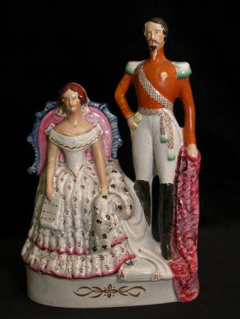 Emperor Napoleon III, Emperor of France (1808-1873) and the Empress Eugénie (1826-1920)