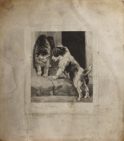 Cat and Puppy (after Fanny Moody)