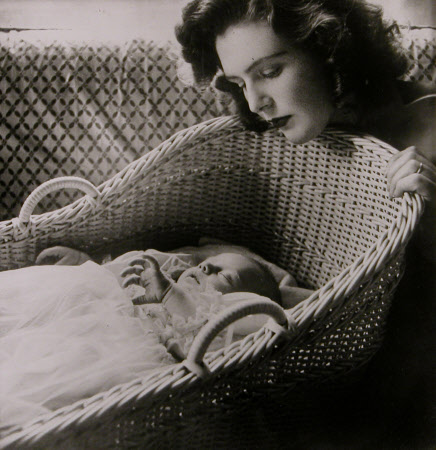 Pamela Beryl Digby, The Hon. Mrs Randolph Frdderick Edward Churchill (1920-1997) with her son ...